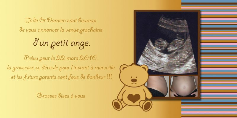 Bekannt Faire-part de grossesse - Les et Zamoureux - accouchement prévu le  OD71