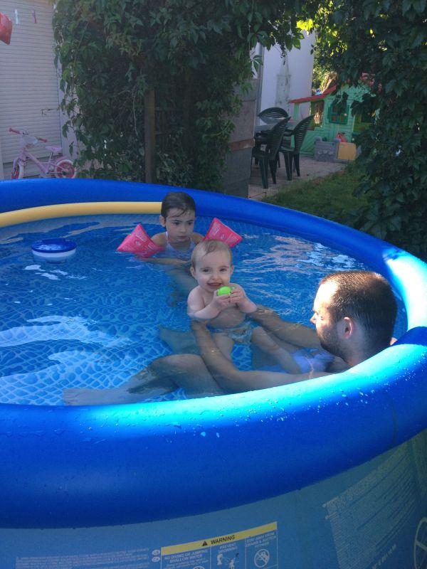 piscine maman m et papa p accouchement pr vu le 14