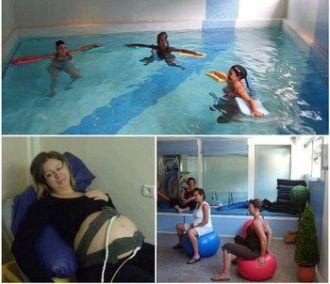 Cours pr pa en piscine m lanie et christophe for Accouchement en piscine