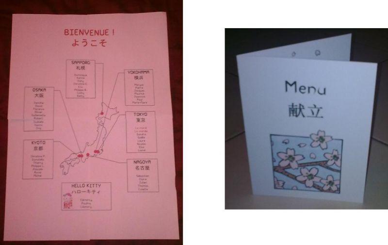 Le plan de table et les menus joana et micka l mariage for Table 52 gaborone menu