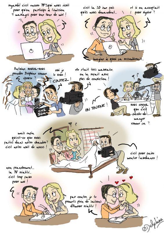 Tv realite delphine et antoine mariage le 3 d cembre 2011 - 14 ans de mariage noce de quoi ...