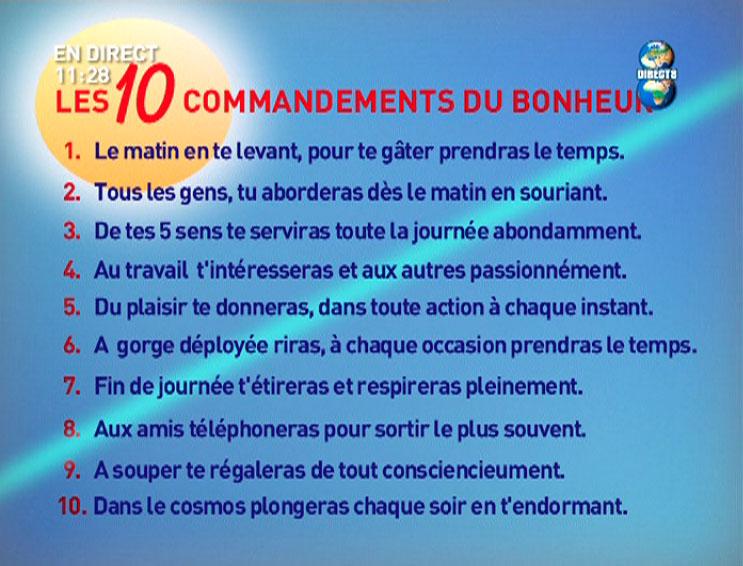 Les 10 commandements du bonheur laly et nino mariage - Liste de porte bonheur ...