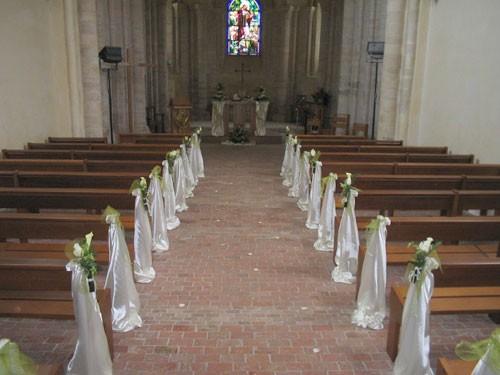 D coration pour l 39 glise ann fran oise et jean loup - Decoration eglise pour mariage ...