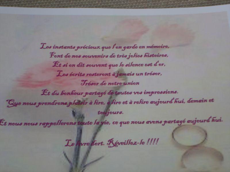 Texte Pour Le Livre D Or Coco Et Chouchou Mariage Le 14