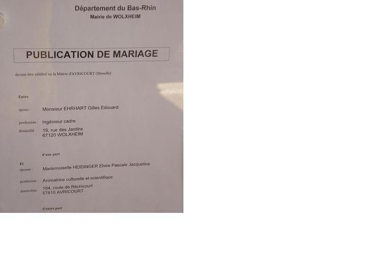 comment trouver les bans de mariage