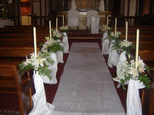 Deco de mariage pour eglise id es et d 39 inspiration sur - Decoration eglise pour mariage ...