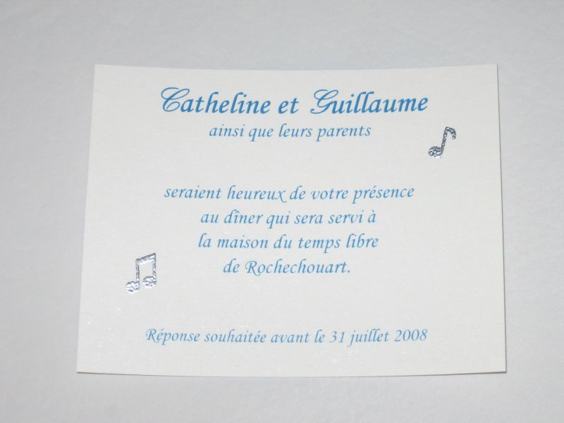 mariage blog carte invitation repas mariage. Black Bedroom Furniture Sets. Home Design Ideas