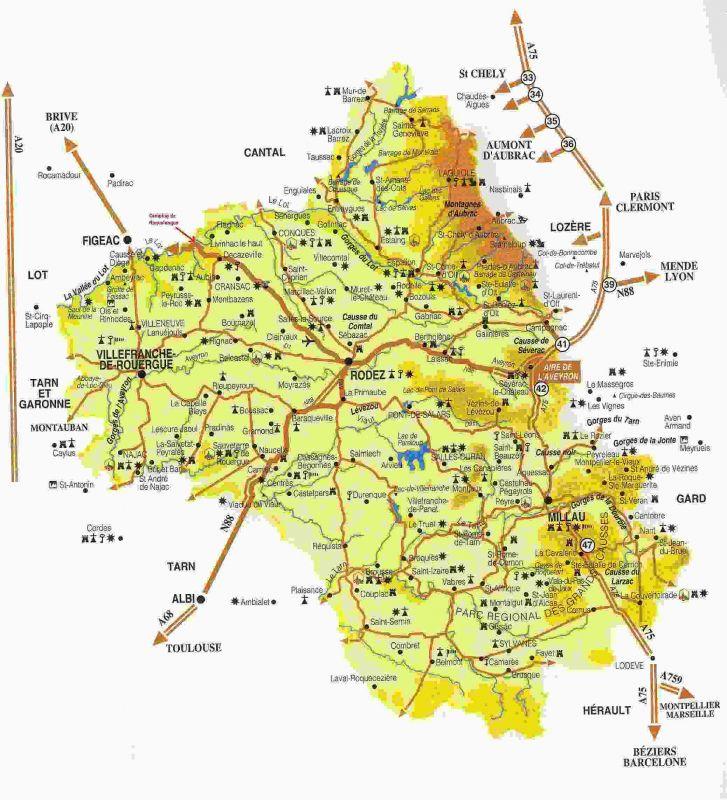 Carte Plan Departement Aveyron Quotes