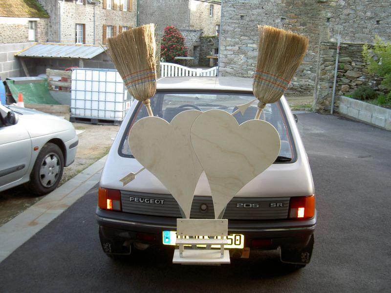 la voiture balai se pr pare cindy et florent mariage le 28 juin 2008. Black Bedroom Furniture Sets. Home Design Ideas