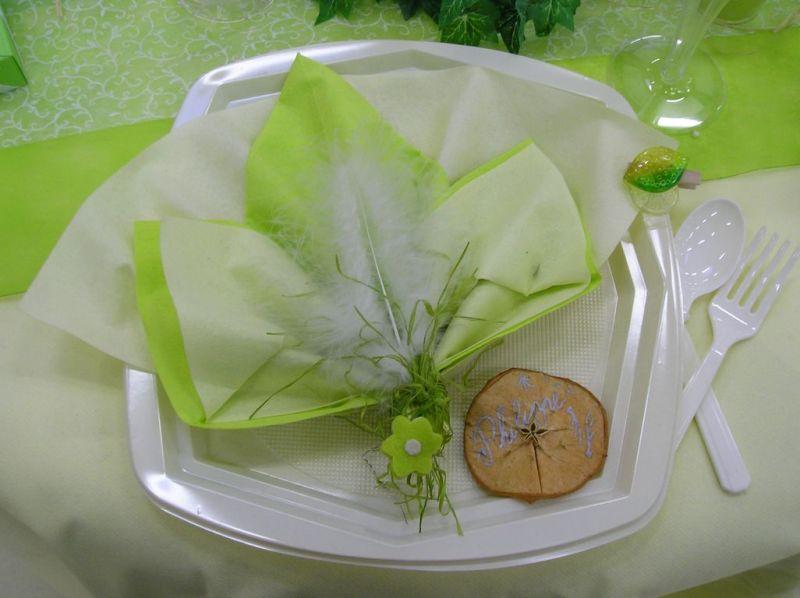 Le pliage des serviettes fanny et michael mariage le 14 juin 2008 - Pliage serviette papier 2 couleurs pour anniversaire ...