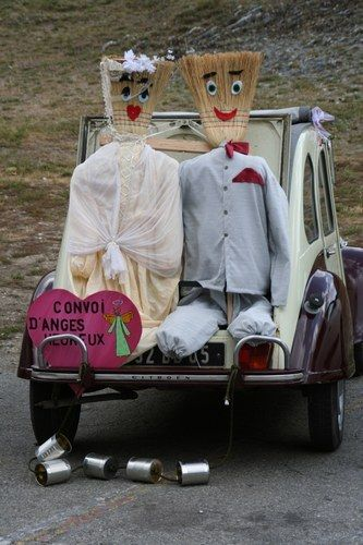 voiture balai nadege et nicolas mariage le 27 juin 2008 - Voiture Balai Mariage