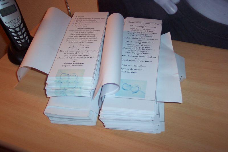 Häufig Nos livrets de messe avancent grâce à Flo - Cindy et Florent  BU26