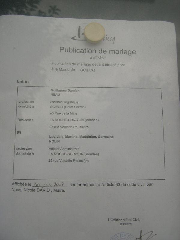 Blog mariage ludivine et guillaume mariage le 16 ao t 2008 - Publication banc mariage ...