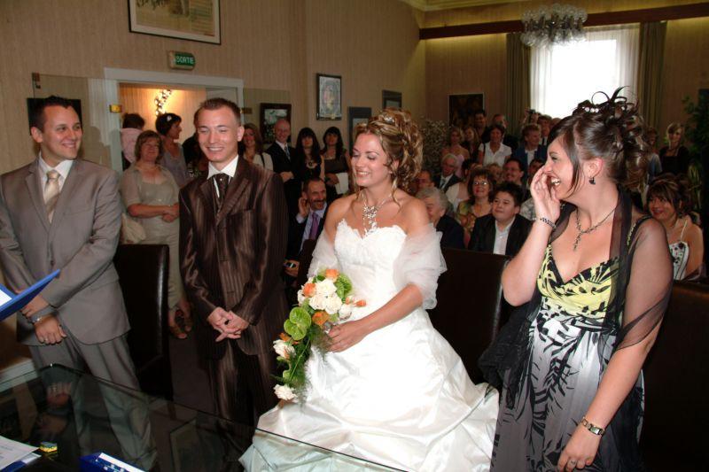 Tout le monde debout audrey et eric mariage le 12 juillet 2008 - Message boulette mariage ...