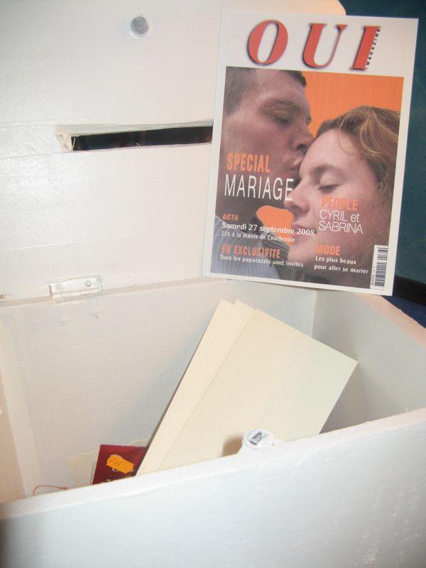 L urne sabrina et cyril mariage le 27 septembre 2008 - Message boulette mariage ...