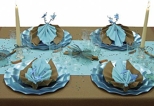 Mon blog mariage septembre 2009 - Pliage serviette theme mer ...