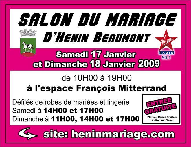 salon du mariage h nin beaumont b et j mariage le 19 d cembre 2009. Black Bedroom Furniture Sets. Home Design Ideas