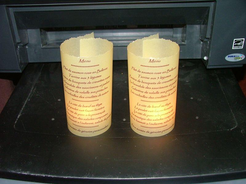 Souvent Menu phosphorescent - Axelle et Jeremy - Mariage le 20 juin 2009 HH74