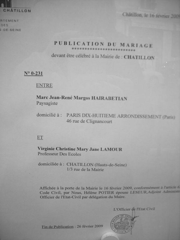 Blog mariage virginie et marc mariage le 29 ao t 2009 - Publication banc mariage ...