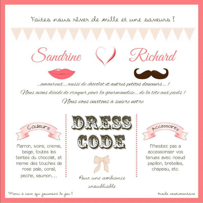 Blog mariage notre mariage gourmand et rock for Code vestimentaire d invitation de mariage